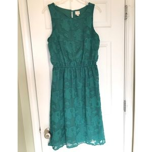 Emerald green sleeveless dress